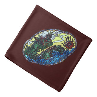 Japanese Dragon Medallion Bandannas