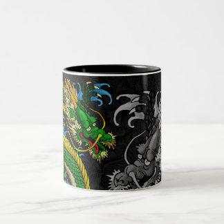 Japanese Dragon Two-Tone Mug