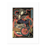 Japanese Dragon Painting circa 1860 Postcards