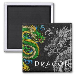 Japanese Dragon Square Magnet