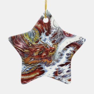 Japanese Dragon Tattoo Design Christmas Ornament