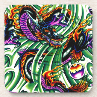 Japanese Dragon Tattoo Drink Coaster