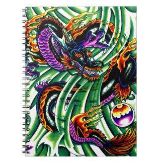 Japanese Dragon Tattoo Spiral Notebook