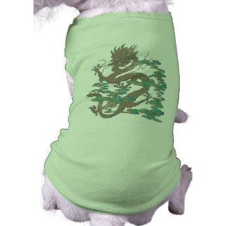 Japanese Dragon Tattoo Sleeveless Dog Shirt