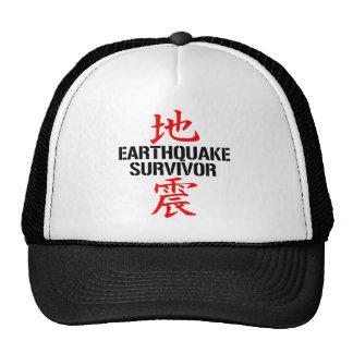 JAPANESE EARTHQUAKE SURVIVOR TRUCKER HATS