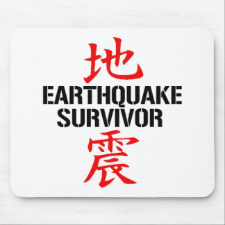 JAPANESE EARTHQUAKE SURVIVOR MOUSEPADS