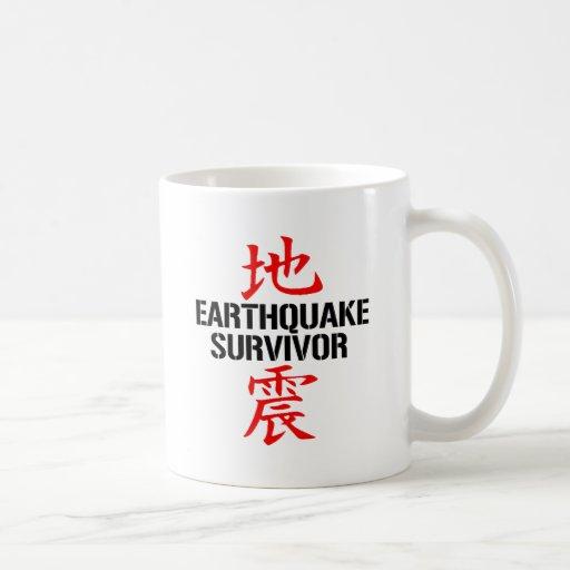 JAPANESE EARTHQUAKE SURVIVOR COFFEE MUGS