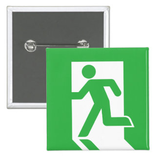 Japanese Emergency Exit Sign 15 Cm Square Badge