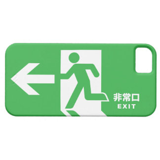 Japanese Emergency Exit Sign Barely There iPhone 5 Case