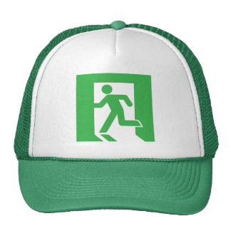 Japanese Emergency Exit Sign Trucker Hat