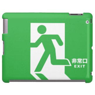 Japanese Emergency Exit Sign iPad Case