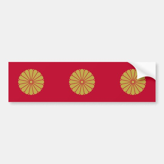 Japanese Emperor, Japan flag Bumper Sticker