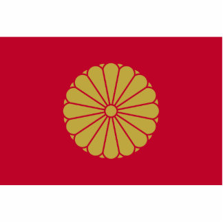 Japanese Emperor, Japan flag Standing Photo Sculpture