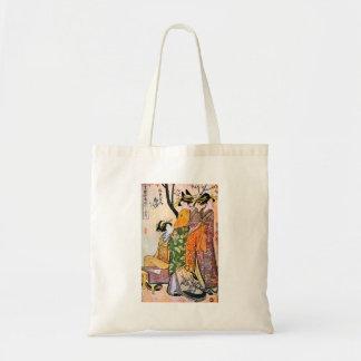 Japanese Engraving Three Geisha 1911 Tote Bags
