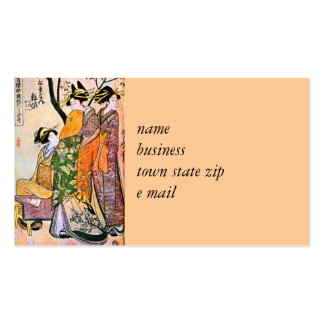 Japanese Engraving Three Geisha 1911 Business Cards