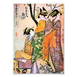 Japanese Engraving Three Geisha 1911 Photo Print