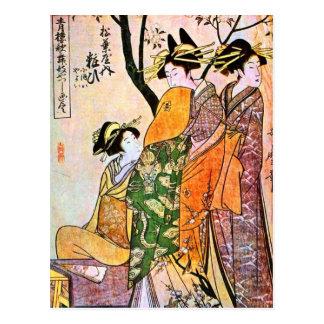 Japanese Engraving Three Geisha 1911 Post Cards