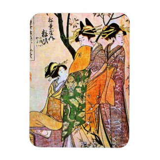 Japanese Engraving Three Geisha 1911 Magnets
