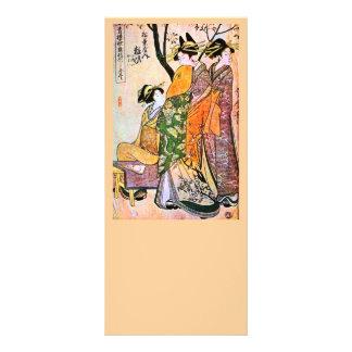 Japanese Engraving Three Geisha 1911 Custom Rack Cards