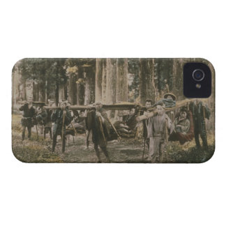 Japanese family being carried in litters, c.1880s iPhone 4 case