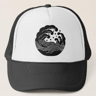 Japanese Family Crest KAMON Symbol Trucker Hat