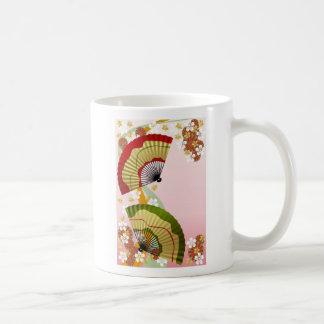 Japanese Fan 2, Japanese Fan 2 Basic White Mug