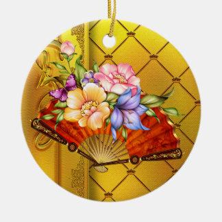 Japanese Fan 2 - SRF Round Ceramic Decoration