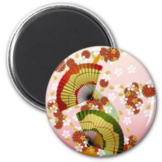 Japanese Fan 3 6 Cm Round Magnet