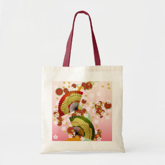 Japanese Fan 3 Budget Tote Bag