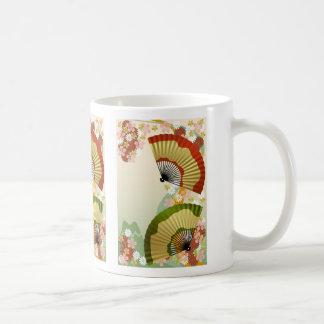 Japanese Fan 3 green Mug