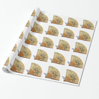Japanese Fan Wrapping Paper