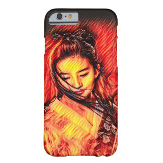 Japanese Fire Spirit Girl Airbrush Art Barely There iPhone 6 Case