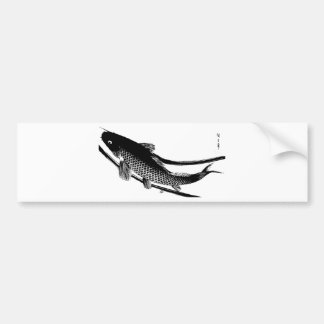 Japanese Fish Bumper Sticker