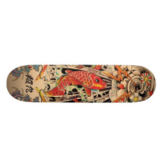 Japanese fish skate board decks