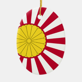 Japanese Flag And Inperial Seal Ceramic Oval Decoration