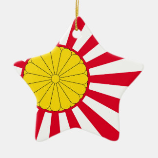 Japanese Flag And Inperial Seal Ceramic Star Decoration