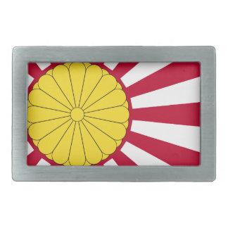 Japanese Flag And Inperial Seal Rectangular Belt Buckles