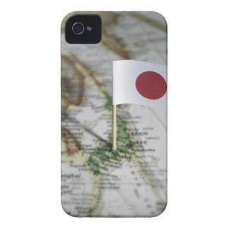 Japanese flag in map iPhone 4 Case-Mate cases