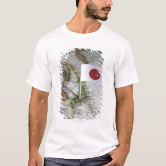 Japanese flag in map T-Shirt