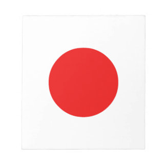 Japanese Flag Notepad