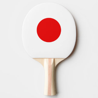 Japanese flag ping pong paddle for tabletennis