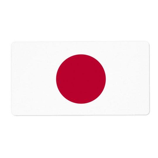 Japanese Flag Shipping Label
