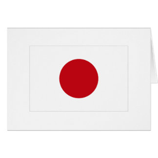 Japanese Flag T-shirts and Apparel Greeting Card