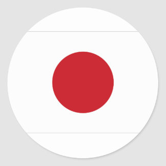 Japanese Flag T-shirts and Apparel Round Sticker