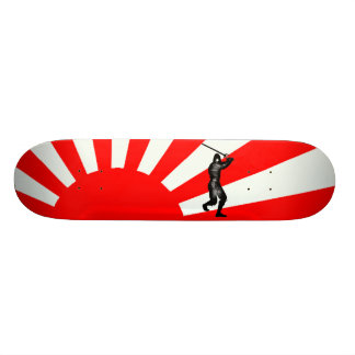 Japanese Flag with Ninja Custom Skateboard