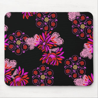 japanese floral design mouse mat