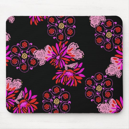 japanese floral design mouse mat
