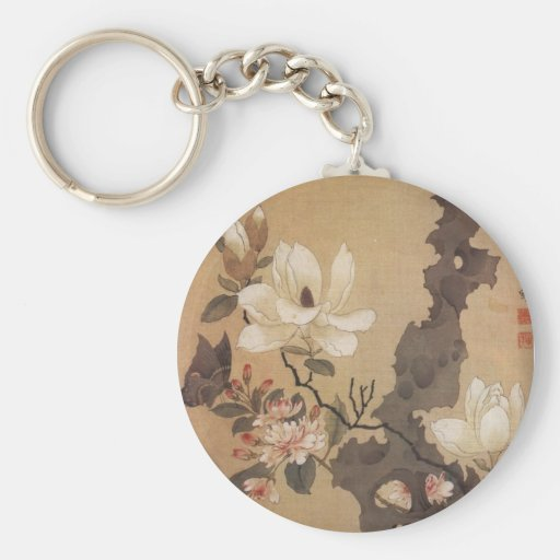 Japanese Floral Keychain
