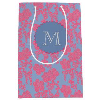 Japanese Floral Print Monogram Gift Bag