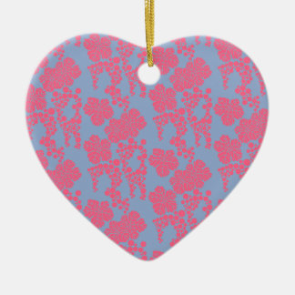 Japanese Floral Print - Pink & Purple Ornament